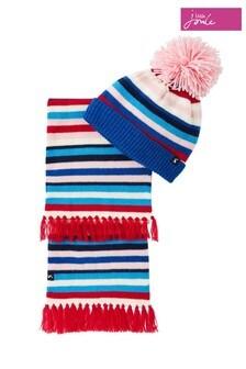 Joules Snowy Mütze und Schal im Set