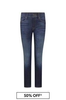 Diesel Boys Blue Cotton Jeans