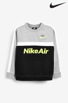 Nike Little Kids Grey Air Crew Sweater