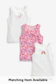 3 Pack Unicorn Vests (1.5-12yrs)