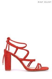 Mint Velvet Tia Red Strappy Heel