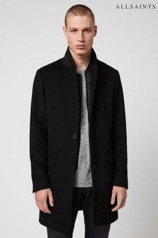 AllSaints Black Lockwood Coat