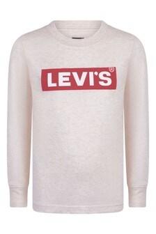 Boys Oatmeal Cotton Jersey T-Shirt