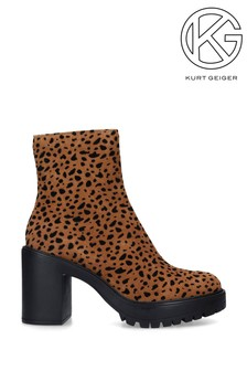 Kurt Geiger Tommy Beige Comb Ankle Boots