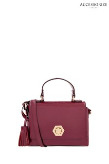 Accessorize Red Patent Handheld Bag