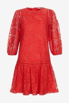 Frill Hem Lace Dress