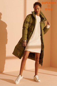 Superdry City Long Line Down Padded Coat