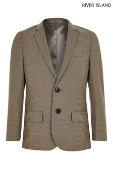 River Island Brown Check Blazer