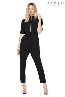 Damsel In A Dress Black Lydia City Suit Jumpsuit