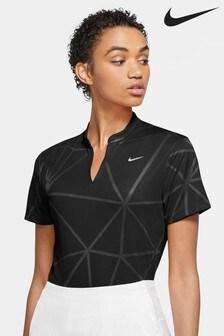 Nike Golf Dri FIT Victory Black Jacquard Poloshirt