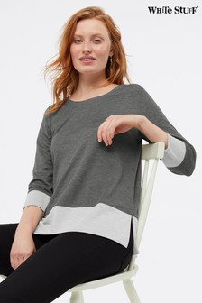 White Stuff Grey Colour Pop Jersey T-Shirt