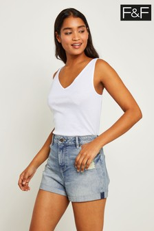 F&F Blue Denim Boyfriend Short