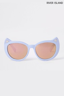 River Island Light Blue Cat Eye Sunglasses