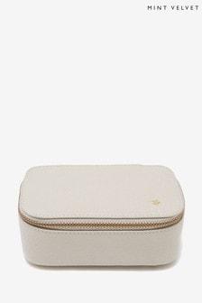 Mint Velvet Stone Leather Jewellery Box