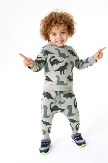 Dino All Over Print Crew Top (3mths-7yrs)