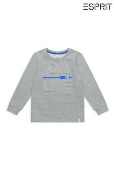 Esprit Grey On Line Sweatshirt