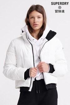 Superdry White Padded Jacket