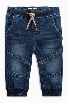 Jersey Denim Cuffed Pull-On Jeans (3mths-6yrs)