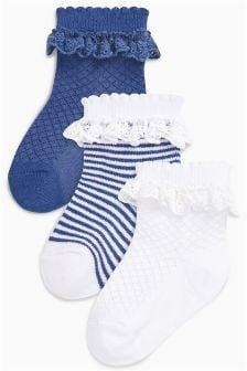 Ruffle Socks Three Pack (Younger)