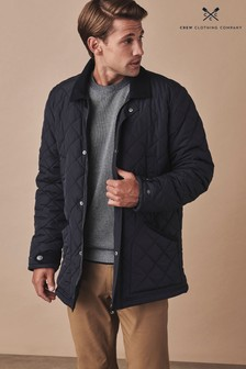 Crew Clothing Blue Quilted Jacket