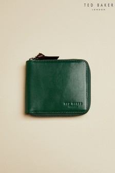 Ted Baker Green Spennie Leather Zip-Up Wallet