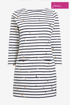 Joules Quinn Print 3/4 Sleeve Jersey Tunic