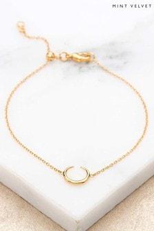 Mint Velvet Gold Plated Horn Bracelet