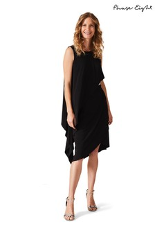 Phase Eight Black Julitta Bead Trim Overlay Dress