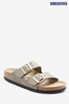 Birkenstock® Gold Arizona Washed Metallic Sandals