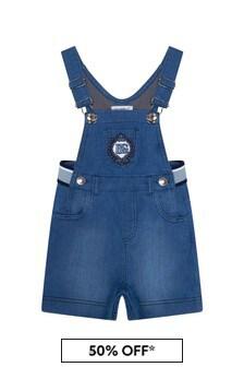 Dolce & Gabbana Kids Dolce & Gabbana Baby Boys Blue Cotton Dungarees