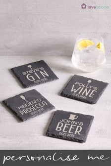 Personalised Slate Drink Coaster by Loveabode