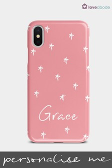 Personalised Pink Star Phone Case by Loveabode