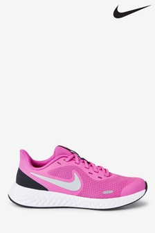 Nike Pink/White Revolution 5 Youth Trainers