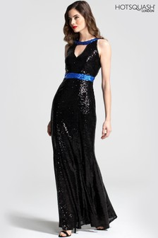 HotSquash Sequin Maxi Keyhole Dress