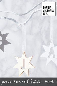 Personalised Initial Star Decoration by Sophia Victoria Joy