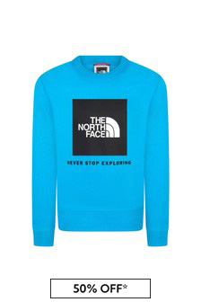 The North Face Blue Cotton Sweat Top