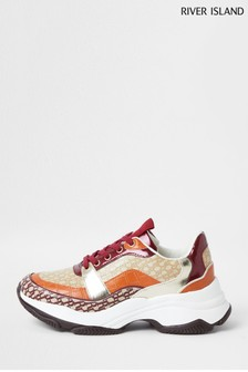 River Island Orange Chunky Detailed Trainers