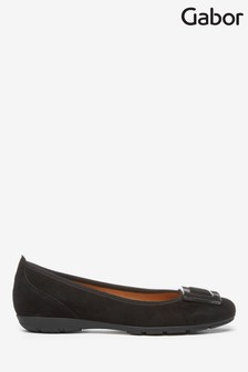 Gabor Black Riband Suede Casual Shoes