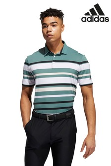 adidas Golf Engineered Green Stripe Poloshirt