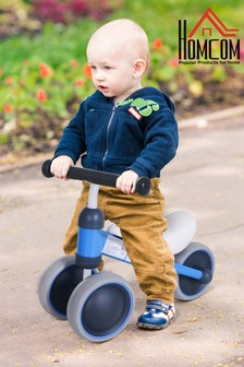 Kids Blue 3-Wheel Aluminium Frame Balanced Bike By HOMCOM