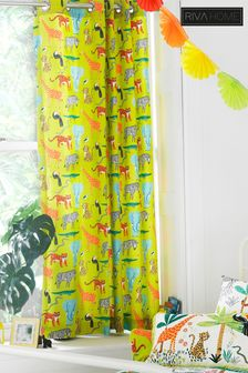 Jungletastic Animal Pencil Pleat Curtains by Riva Home