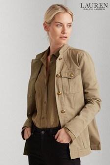 Lauren Ralph Lauren Khaki Vestah Military Jacket