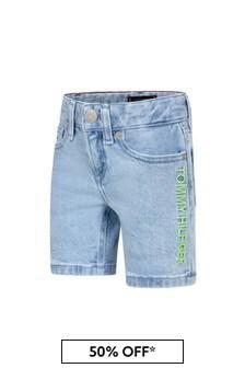 Tommy Hilfiger Boys Blue Cotton Shorts