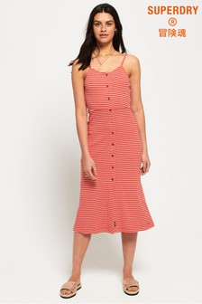 Superdry Charlotte Button Down Midi Dress
