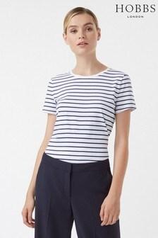 Hobbs White Stripe Pixie T-Shirt