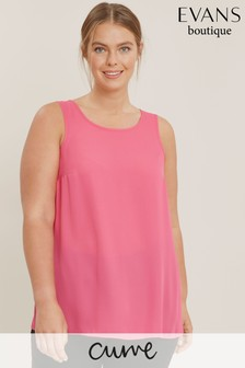Evans Curve Pink Camisole Top