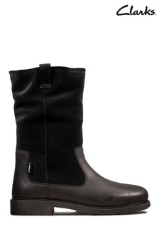 Clarks Black Astrol Rise K Boots