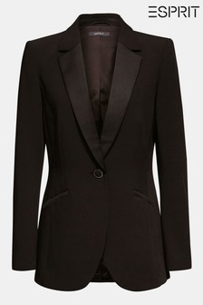 Esprit Black Blazer With Pocket Details