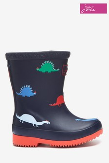 Joules Blue Baby Boys Print Wellies