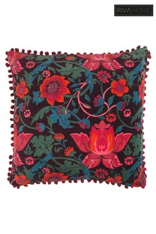 Eve Floral Pom Pom Cushion by Riva Home
